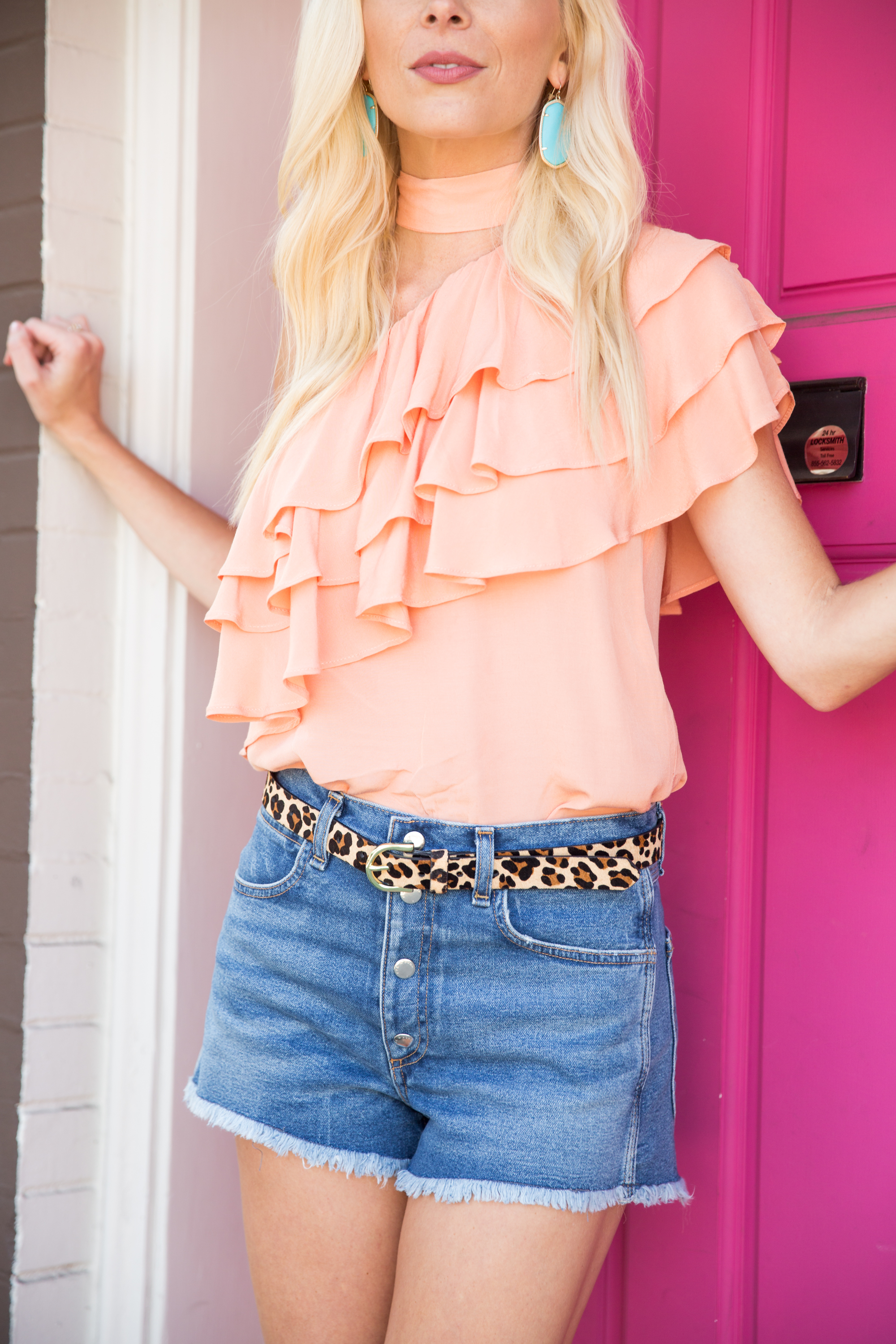 Ruffles, One Shoulder Tops and a Pop of Animal Print